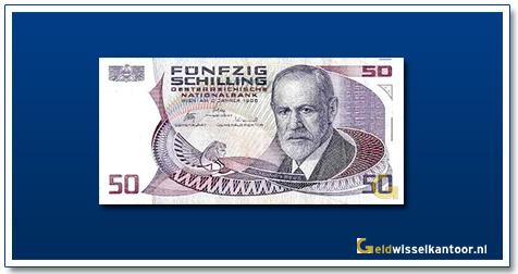geldwisselkantoor-50-Schilling-Sigmunt-Freud-Oostenrijk-1986-87