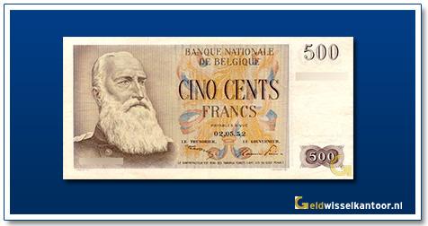 geldwisselkantoor-500-francs-leopold-II-1952-1958-Belgie