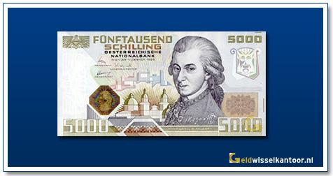 geldwisselkantoor-5000-Schilling-Wolfgang-Amadeus-Mozart-Oostenrijk-1988-89