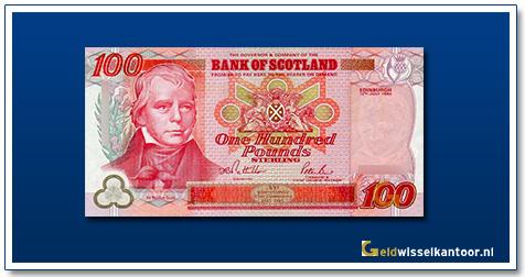 geldwisselkantoor-100-Pounds-sir-walter-scott-1995-Scotland