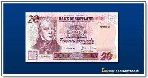 geldwisselkantoor-20-Pounds-sir-walter-scott-1995-2003-Scotland