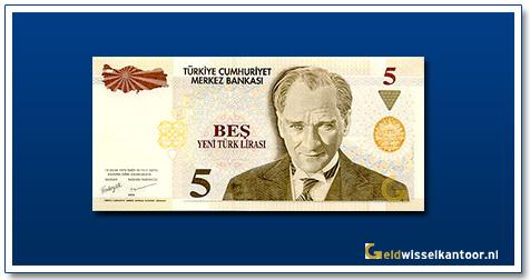 geldwisselkantoor-5-Lira-President-Kamel-Ata-Turk-Turkije-2005