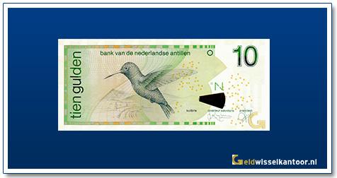 Geldwisselkantoor 10 Antilliaanse Gulden Kolibrie 1998
