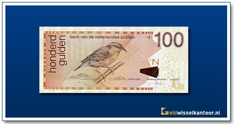 geldwisselkantoor 100 Antilliaanse gulden Suiker diefje 1998 heden