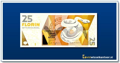 Arubaanse Florin-25-florin-Cascabel-snake-2003-heden-Aruba