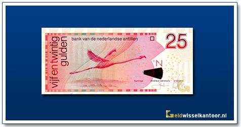 geldwisselkantoor-25-Antilliaanse gulden-Flamingo-1998-heden-curacao-st-maarten