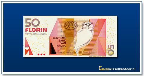 Arubaanse Florin-50-florin-Shoco-Owl-2003-heden