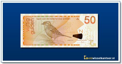 geldwisselkantoor 50 Antilliaanse gulden Andes mus 1998 heden
