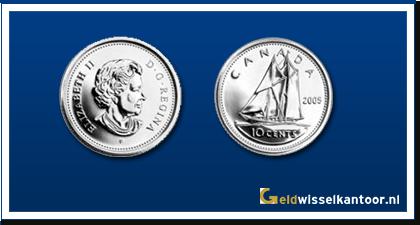 geldwisselkantoor-Canadese-Dollar-munten-10-Cents-1968-heden