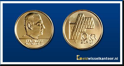 geldwisselkantoor-Noorse-Kroon-munten-10-kroner-1995-heden-Noorwegen