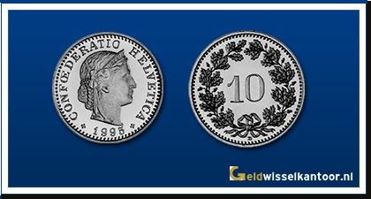 geldwisselkantoor-Zwitserse Frank-munten-10-rapen-zwitserland
