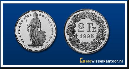 geldwisselkantoor-Zwitserse Frank-munten-2-francs-zwitserland