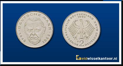 geldwisselkantoor-Duitse-Marken-munten-2-mark-1988-2000-duitsland