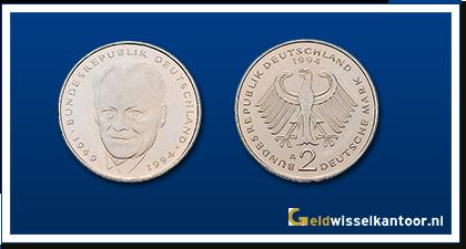 geldwisselkantoor-Duitse-Marken-munten-2-mark-1994-2000-duitsland