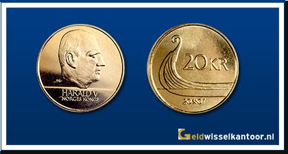 geldwisselkantoor-Noorse-Kroon-munten-20-kroner-1994-heden-Noorwegen