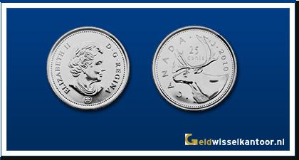 geldwisselkantoor-Canadese-Dollar-munten-25-Cents-1969-heden