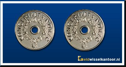 geldwisselkantoor-Noorse-Kroon-munten-5-kroner-1998-heden-Noorwegen