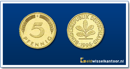 geldwisselkantoor-Duitse-Marken-munten-5-pfennig-duitsland
