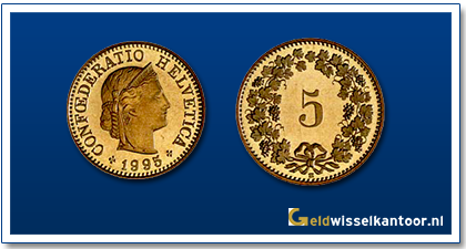 geldwisselkantoor-Zwitserse Frank-munten-5-rapen-zwitserland