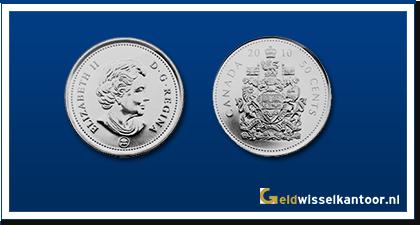 geldwisselkantoor-Canadese-Dollar-munten-50-Cents-1953-heden