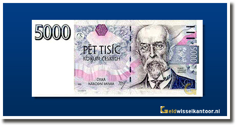 Tsjechië 5000 Kronen Tomas Garrigue Masaryk 1993
