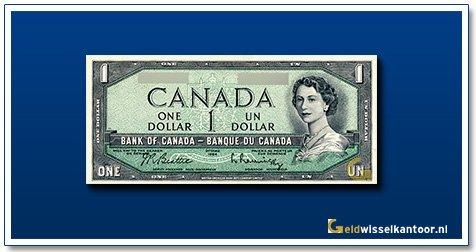 Canada 1 Dollar Queen Elizabeth II 1954