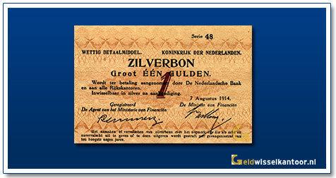 Nederland 1 Gulden 1914 Zilverbon