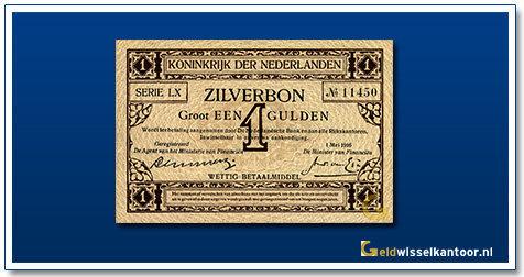 Nederland 1 Gulden 1916 Zilverbon
