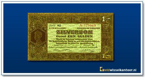 Nederland 1 Gulden 1920 Zilverbon