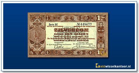 Nederland 1 Gulden 1938 Zilverbon