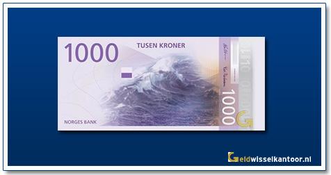 Noorwegen 1000 Kronen Wave in the Sea 2018