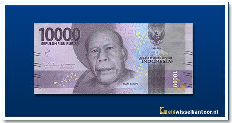 Indonesië-10.000-Rupiah-Frans-Kaisiepo-2016