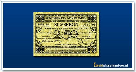 Nederland 2 1/2 Gulden 1915 Zilverbon