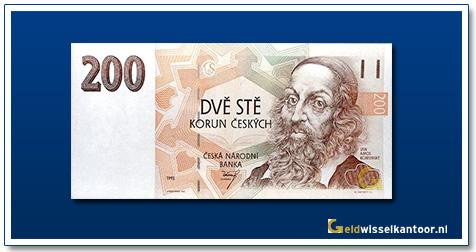 Tsjechië 200 Kronen Jan Amos Komensky 1993