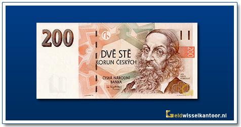 Tsjechië 200 Kronen Jan Amos Komensky 1996