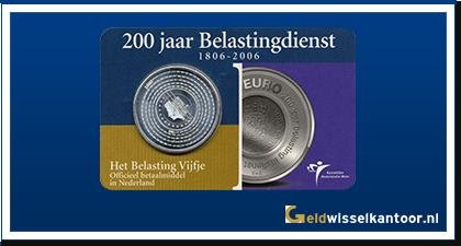 Coincard 5 Euro 2006 | 200 jaar Belastingdienst 1806-2006