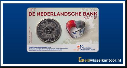 Coincard 5 Euro De Nederlandsche Bank 2014