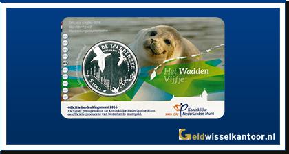 Coincard 5 Euro Het Wadden Vijfje 2016