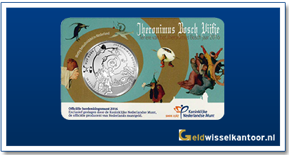 Coincard 5 Euro Jheronimus Bosch Vijfje 2016
