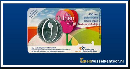 Coincard 5 Euro Tulpen Vijfje 2012