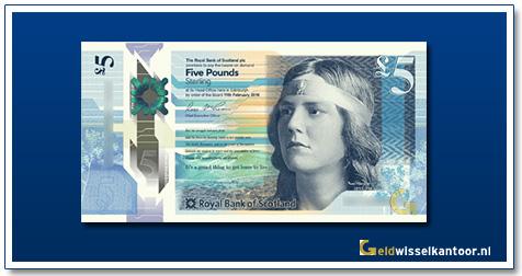 Scotland 5 Pounds Novelist Nan Shepherd 2016
