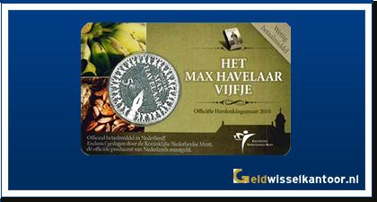 Coincard 5 Euro Het Max Havelaar Vijfje 2010