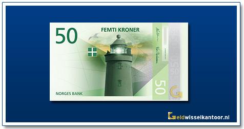 Noorwegen 50 Kronen Utvær Lighthouse in Sogn og Fjordane 2018
