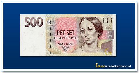 Tsjechië 500 Kronen Bozena Nemcova 1997