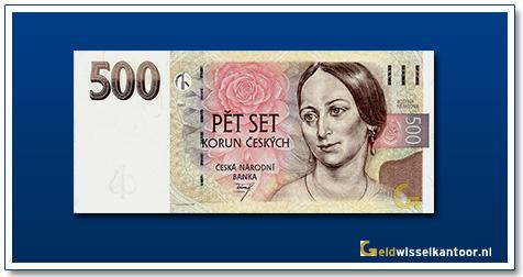 Tsjechië 500 Kronen Bozena Nemcova 1995