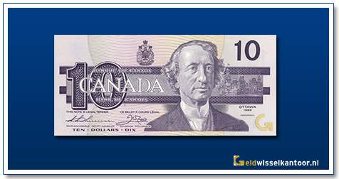 Canada 10 Dollar Sir John A MacDonald 1989