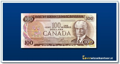 Canada 100 Dollar Sir Robert Borden 1975