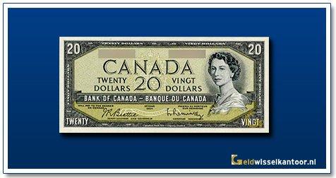 Canada 20 Dollar Queen Elizabeth II 1954