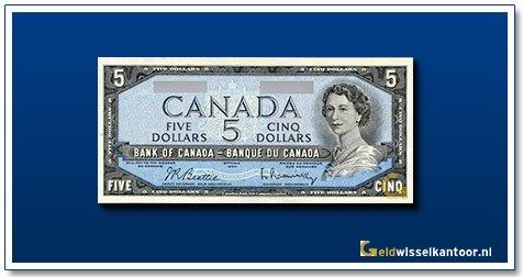 Canada 5 Dollar Queen Elizabeth II 1954