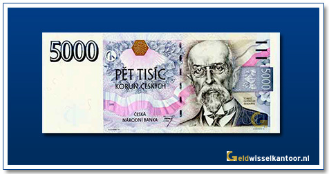 Tsjechië 5000 Kronen Tomas Garrigue Masaryk 1999-2009